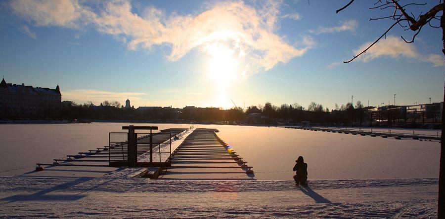 O calor do inverno finlandês
