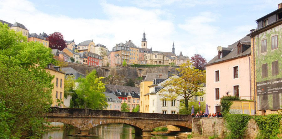 A capital de Luxemburgo de cima a baixo!