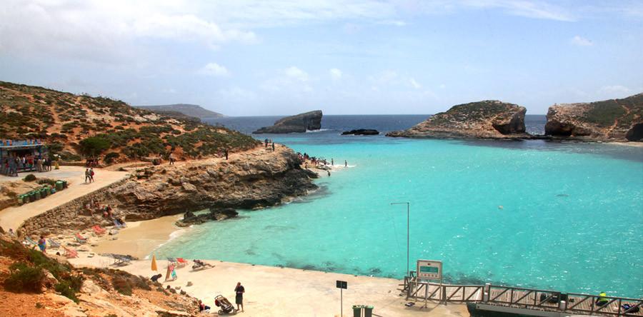 A incrível Lagoa Azul de Malta