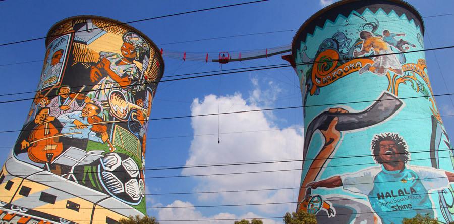 Soweto radical: bungee-jump e queda livre!