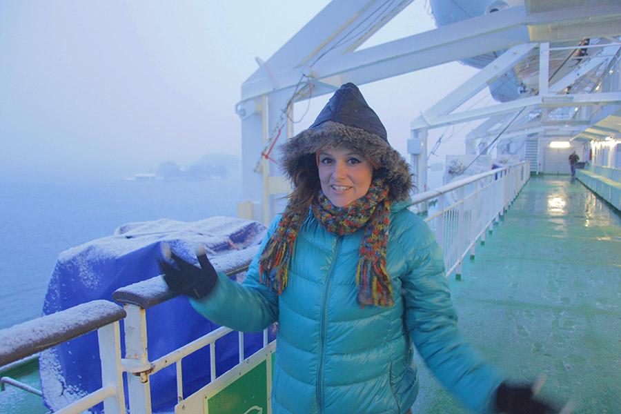 Viagem de barco entre Finlândia e Suécia!