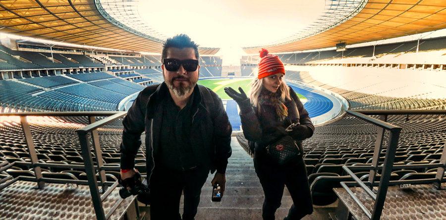 Visitando o Estádio Olímpico de Berlim